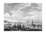 Battle of Neerwinden in the Revolutionary Wars, 1793 Giclée-Druck von R. Vinkeles