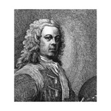 William Hogarth, Artist, with Wig and Palette Giclee Print by Samuel Ireland
