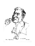 W H Davies Giclee Print by Powys Evans