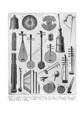 Chinese Musical Instruments Premium Giclee Print