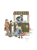 Ice Cream Vendor, London Giclee Print by Phil May