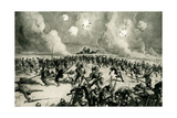 WW1 - German Prussian Guard Driven Back to their Trenches Giclee Print by Steven Spurrier