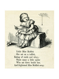 Little Miss Muffet Giclee Print by T. Dalziel