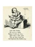 Little Miss Muffet Premium Giclee Print by T. Dalziel