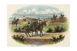 Military Cavalry Scouts Giclee Print by Richard Simkin