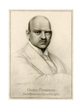 G Stresemann, Godard Giclee Print by Rene Godard