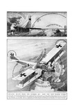 Gotha Giant Biplane, WW1 Diagram Giclee Print by S.W. Clatworthy