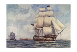 Queen Sailing Warship Giclee Print by Norman Wilkinson