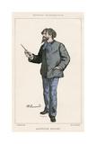 Alphonse Daudet Giclee Print by Paul Renouard