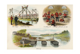 Various Army Training Activities Giclee Print by Richard Simkin