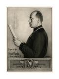 Mussolini Giclee Print by Rene Godard