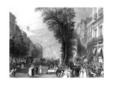 Paris, France - Grands Boulevards Giclee Print by T. Higham