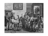 Drinking in Flemish Pub Giclee Print by Quentin Metsys