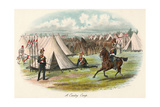 A Military Cavalry Camp Giclee Print by Richard Simkin