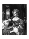 Joanna Colonna Giclée-tryk af Raffaello Sanzio