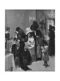 A Paris Salon de The Giclee Print by Rene Lelong