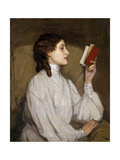 Miss Auras: the Red Book Premium Giclee Print by Sir John Lavery