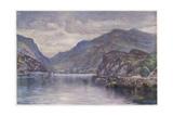 Snowdon Llanberis Lake Giclee Print by Robert Fowler