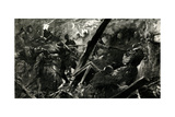 WW1 - the British at the Battle of Lens, France 1917 Giclee Print by Paul Thiriat
