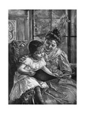 Girl and Picturebook Giclee Print by Paul Wagner
