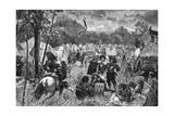 Wallenstein's Camp Giclee Print by W Gause