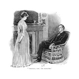 Holmes and Mrs. St. Clair Giclee Print by Sidney Paget