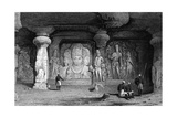 India Elephanta Giclee Print by Samuel Prout