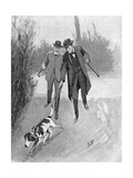 Holmes and Watson, Dog, C20 Wydruk giclee autor Sidney Paget