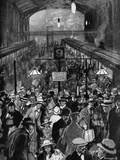 Exodus of Germans at Liverpool Street Station, WW1 Photographic Print by Steven Spurrier
