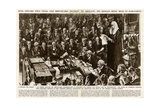 Edward VIII Abdication Message Read in Parliament Giclee Print by Steven Spurrier