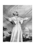 Vision of Pius XII Lámina giclée por Rino Ferrari