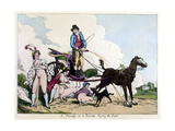 Laying the Dust Giclee Print by Thomas Rowlandson