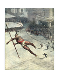Tightrope Accident Giclee Print by Vittorio Pisani