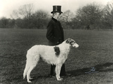 Thomas Fall with Borzoi Photographic Print by Thomas Fall