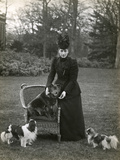 Queen Alexandra and Dogs Photographic Print by Thomas Fall