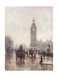 Big Ben in Half Light Giclee Print by Rose Barton