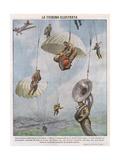 Parachute Gicléetryck av Vittorio Pisani