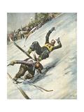 Killer Ski Jump 1934 Giclee Print by Vittorio Pisani