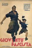Gioventu Fascita Magazine Photographic Print by Vittorio Pisani