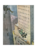 Falling from Skyscraper Giclee Print by Vittorio Pisani