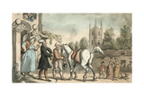 Dr Syntax Setting Out on His Tour to the Lakes Giclee Print by Thomas Rowlandson
