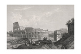 Rome, Colosseum C1835 Giclee Print by Thomas Allom