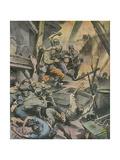 Stalingrad Battle Giclee Print by Rino Ferrari