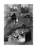 Derby Recruiters Sleeping at a Recruiting Office, WW1 Giclee Print by W. Hatherell