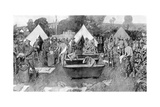 British Soldiers Washing at a Rest Camp Giclee Print by W. Hatherell