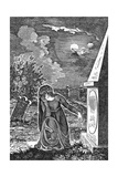 Lady at Tomb Giclee Print by Thomas Bewick