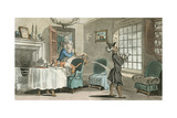 Dr Syntax Copying the Wit of the Window Giclee Print by Thomas Rowlandson