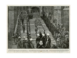 Victoria's Funeral Arrival at St George's Chapel Windsor Giclee Print by W. Hatherell
