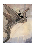 Flying a Dragon, Timlin Giclee Print by William M. Timlin