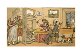Dr Syntax Returned from His Tour Giclee Print by Thomas Rowlandson